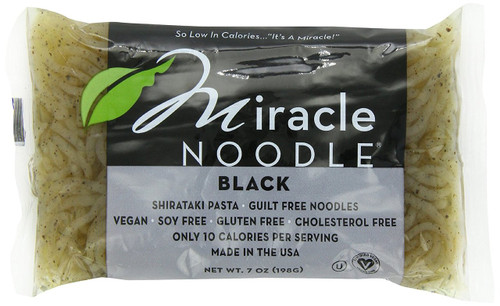 Miracle Noodle Zero Carb, Gluten Free Shirataki Pasta, Black Angel Hair, 7-Ounce (Pack of 6)