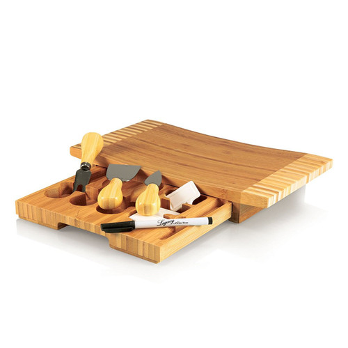 Picnic Time 'Concavo' Bamboo Cheese Board and Cheese Tool Set