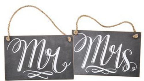 Mr. & Mrs. Chalk Signs (Set of 2)
