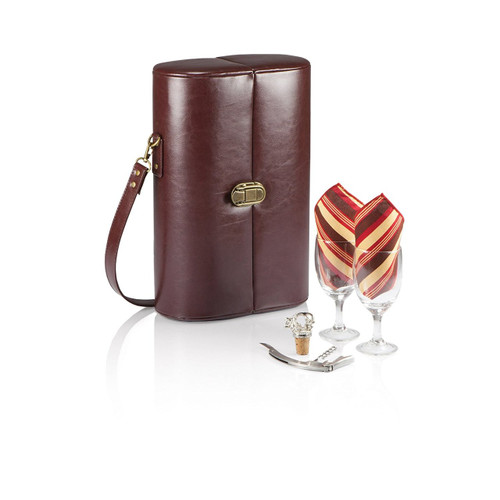 Picnic Time 'Harmony' Single Bottle Wine Case with Wine Service for 2