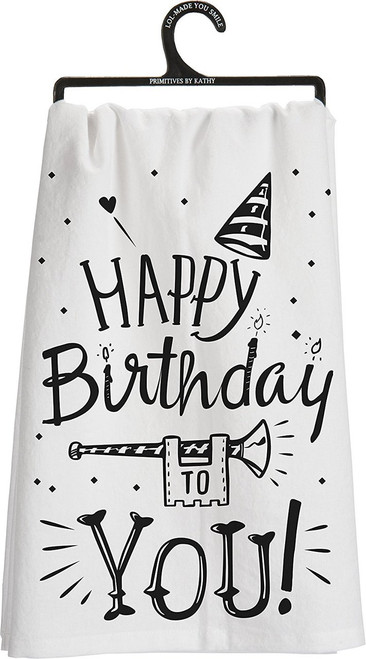 Primitves By Kathy Tea Towel - Happy Birthday to You