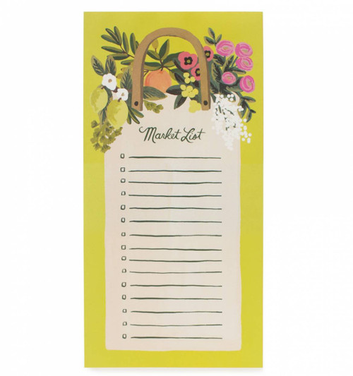 Rifle Paper Farmer's Market Grocery List Magnetic Note Pad