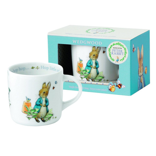 Wedgwood Boy's Peter Rabbit Single Handled Mug, White and Blue