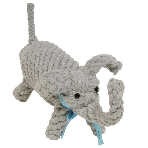 Jax and Bones Good Karma Rope Dog Toy, Coco the Elephant