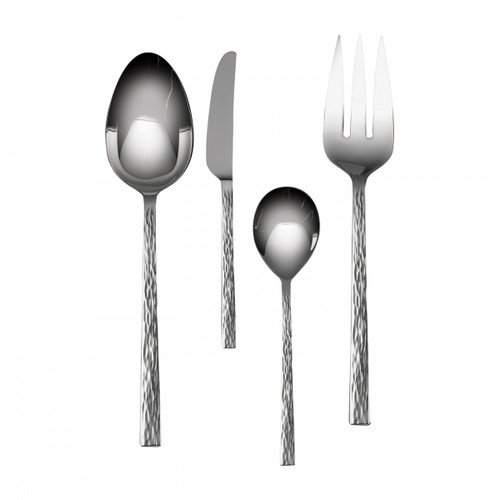 Wedgwood Vera Wang Stainless Hammered 4-Piece Hostess Set