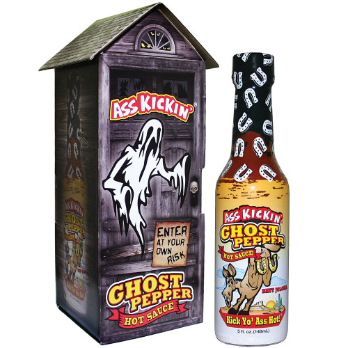 Ass Kickin' ® Ghost Pepper Hot Sauce with Haunted House