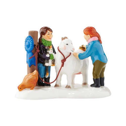 Department 56 Snow Village Blue Ribbon Christmas Figurine 2016