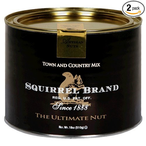 Squirrel Brand Nuts, Town and Country Mix, 18-Ounce Cans (Pack of 2)