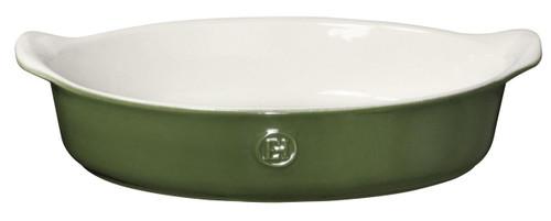 """Emile Henry HR Modern Classics Oval Baker, 14.2 x 9.4"""", Green"""