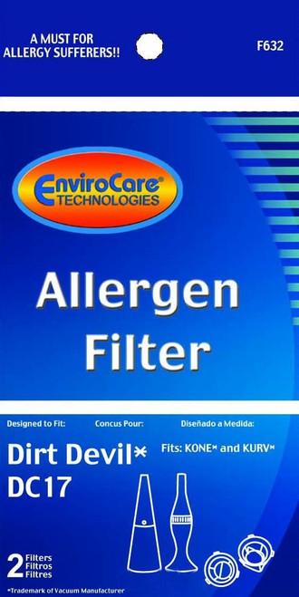 Generic Dirt Devil F17 Allergen Filter 2 Pack