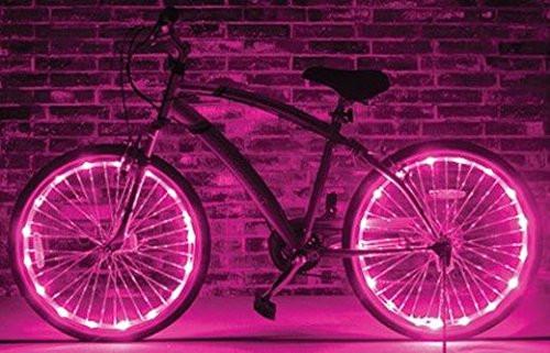 Brightz, Ltd. Pink Wheel Brightz LED Bicycle Light