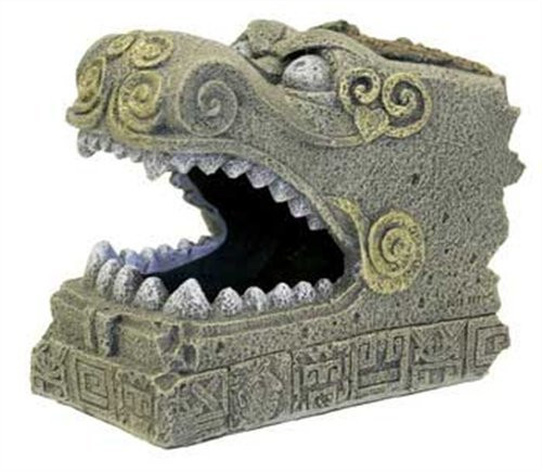 Blue Ribbon Pet Products Resin Aquarium Ornament - Serpent Head Tomb, 6.25 Inch L x 3.75 Inch D x 5 Inch H