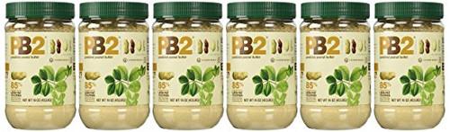 PB2 - Bell Plantation Peanut Butter, 1 lb Jar 16oz (6 Pack)