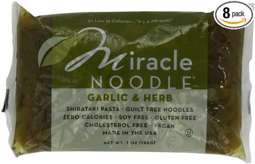 Miracle Noodle Garlic and Herb Shirataki, 7 Ounce (Pack of 8)