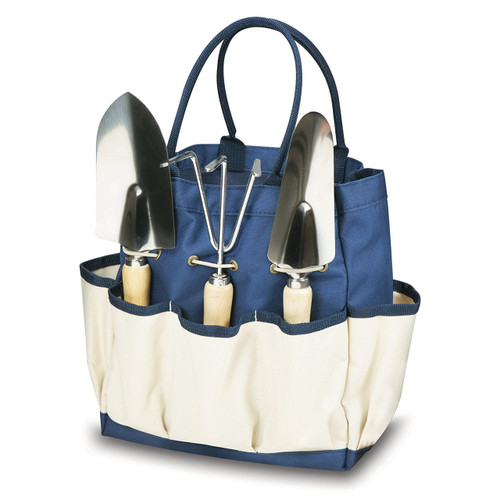 Picnic Time 'Garden Tote' with Tools, Navy/Cream
