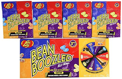 2 Jelly Belly Bean Boozled Spinners and 8 (1.6 ounce) Refill Boxes,