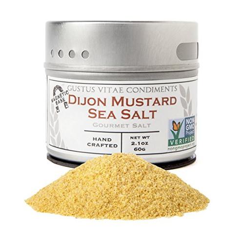 Dijon Mustard Sea Salt, Non-GMO, 3.1oz, Gourmet