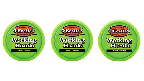 O'Keeffe's K0350002-3 Working Hands Hand Cream in Jar (3 Pack), 3.4 oz