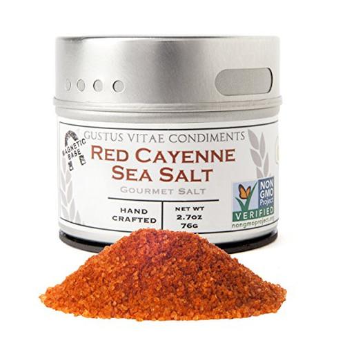 Gustus Vitae Red Cayenne Sea Salt, 3.1 Ounce