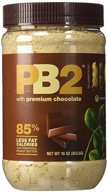 Bell Plantation PB2 Chocolate Peanut Butter, 1 lb Jar (Pack of 6)
