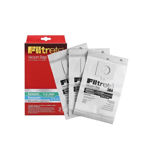 Kenmore C (50558) & Panasonic C-5 Micro Allergen Bag, 3M Filtrete (3 Bags, per pack)