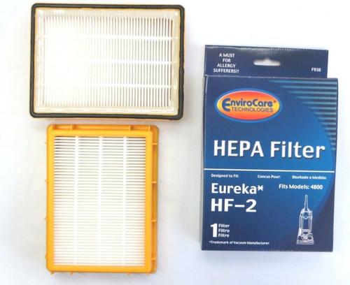 (2) Eureka HF2 Hepa Pleated Filter HF-2 Eureka Upright Ultra Smart, Boss, Omega, UltraSmart Vac Cyclonic, Whirlwind Vacu