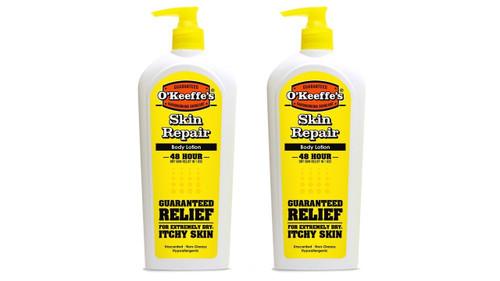 O'Keeffe's K0120030-2 Skin Repair Pump Bottle (2 Pack), 12 oz