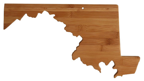 Totally Bamboo State Cutting & Serving Board, Maryland, 100% Bamboo Board for Cooking and Entertaining
