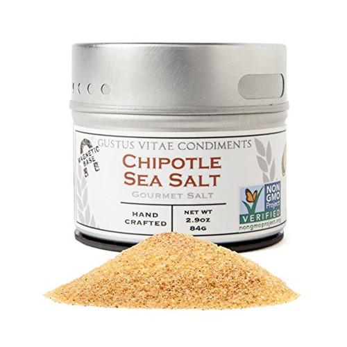 Chipotle Sea Salt, Non-GMO, Small Batch, 2.9 oz, Gourmet Salt
