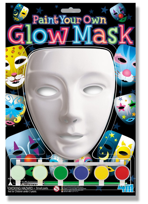 4M Paint Your Own Glow Mask Kit