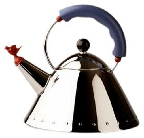 9093 Miniature Kettle with Bird Whistle by Michael Graves