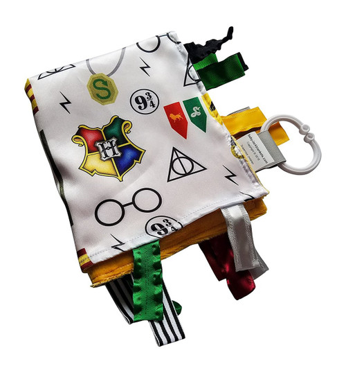 Wizard Baby Tag Blanket for Harry Potter Baby Nursery. Teach baby about Wizarding World with this 14x18 Educational Magi