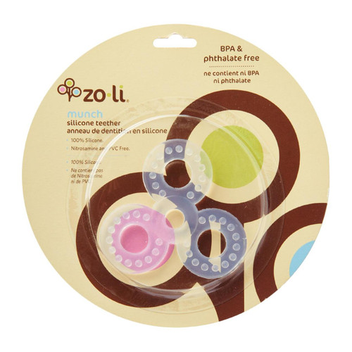 Zoli Baby Munch Silicone Teether - Clover