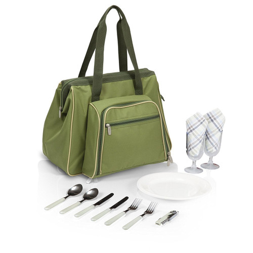 Picnic Time 'Toluca' Insulated Cooler Picnic Tote, Green