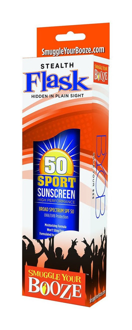 Smuggle Your Booze 10 Oz. Sunscreen Flask