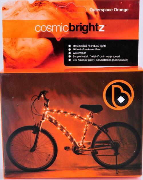 Brightz, Ltd. Orange Cosmic Brightz LED Bicycle Frame Light