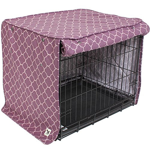 molly mutt Royals Crate Cover, Purple, Medium