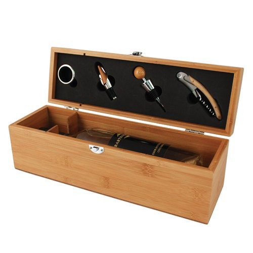 Bottle Box Bamboo Gift Set by True