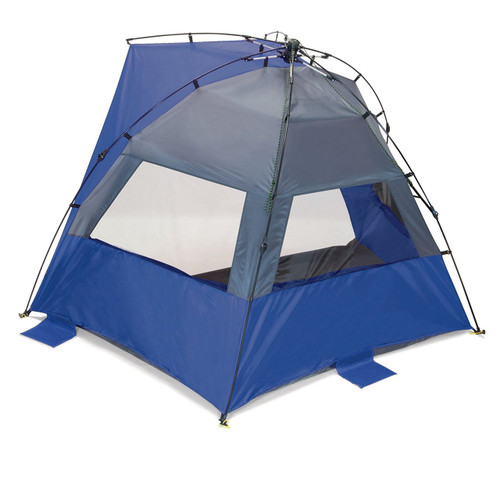 Picnic Time Haven Portable Sun/Wind Shelter, Blue/Grey
