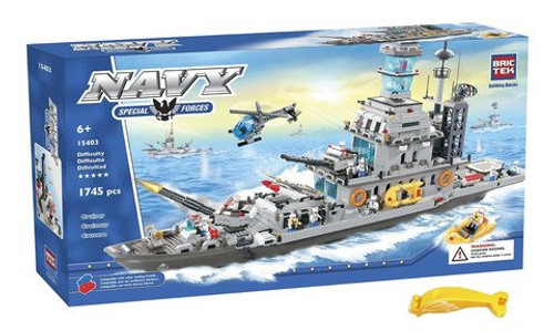 BRICTEK 15403 Giant Battleship Cruiser Set 1745 pcs Building Blocks (Compatible with Legos) with Brick Remover