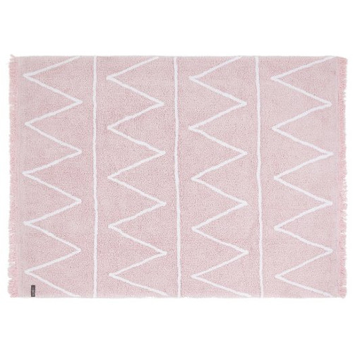Lorena Canals Hippy Soft Pink Washable Children's Rug - Machine Washable, Perfect for the Nursery - Handmade from 100% N