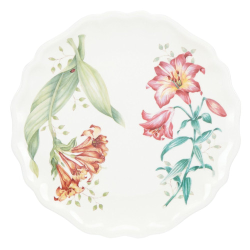 Lenox Butterfly Meadow Melamine Accent Plate, White