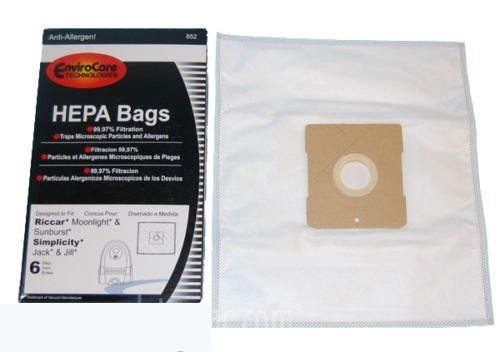18 HEPA Designed to fit Simplicity Jack & Jill Vacuums