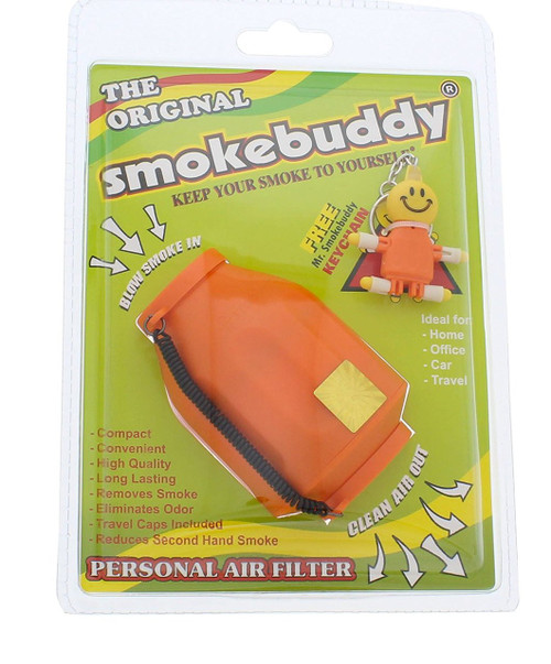 Orange Smoke Buddy - Personal Air Purifiery and Odor Diffuser