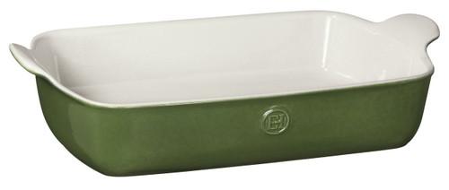 """Emile Henry HR Modern Classics Large Rectangular Baker, 13 x 9"""", Green"""