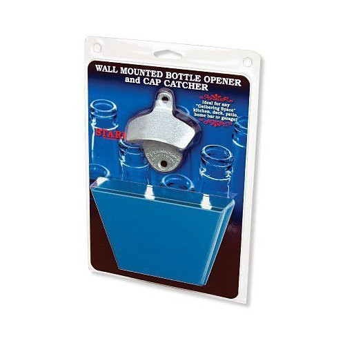 Plain Bottle Opener/blue Cap Catcher(plastic)