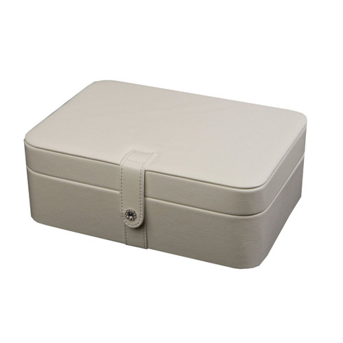Mele & Co. Lila Forty Eight Section Jewelry Box in Ivory Faux Leather