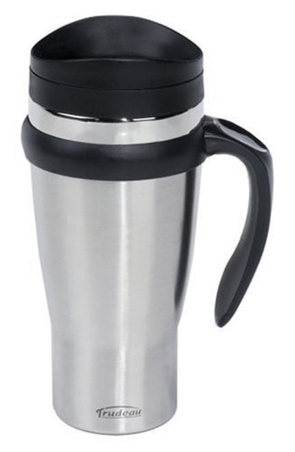 Trudeau Drivetime Travel Mug, Stainless Steel