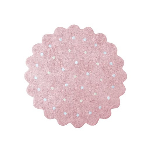 Lorena Canals Galletita Rosa/Pink Washable Children's Rug - Machine Washable, Perfect for the Nursery - Handmade from 10