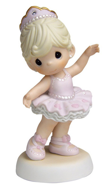 "Precious Moments, Birthday Gifts, ""You Sparkle With Grace And Charm"", Bisque Porcelain Figurine, #620008"
